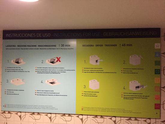 Self Service Laundry Instructions Picture Of Ifa Buenaventura