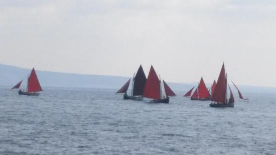 Tigh Giblin : Galway Hooker at sea in Spiddal, Galway Ireland