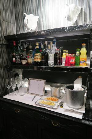 Ca' Maria Adele: The hotel's honesty bar, you just write down what you take