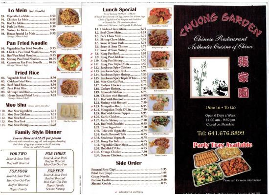 Chuong Garden Chinese Restaurant Oskaloosa Reviews Phone Number Photos Tripadvisor