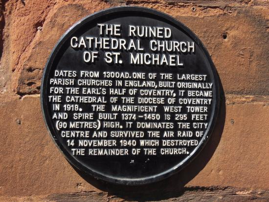 Coventry, UK: Brief summary of old cathedral's history.