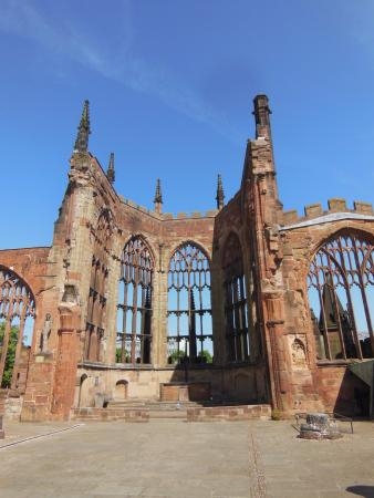 Coventry, UK: The old walls, which withstood the bombing.