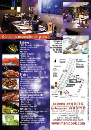 Fegersheim, فرنسا: liste des plats au buffet