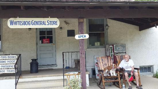 Browns Mills, NJ: Rest on the rocking chairs at the general store