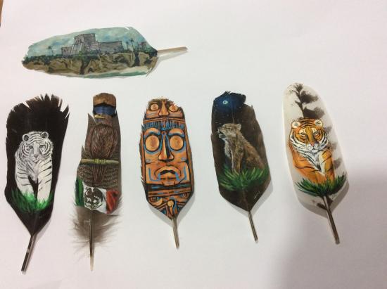 Balam Art On Feathers
