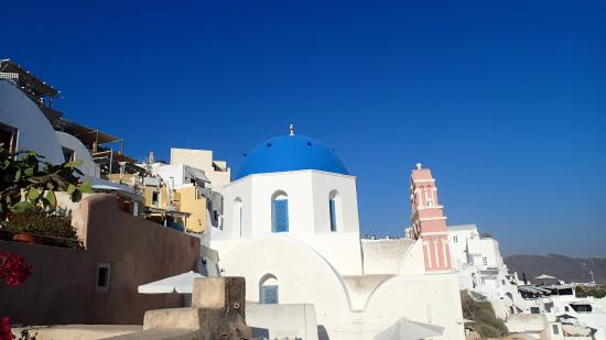 Oia's Main Street: View from the Main Street
