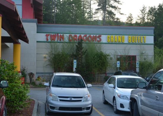 Twin Dragons Grand Buffet: Front of Building to right of main Portico
