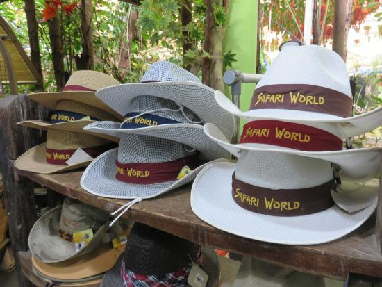 7ec3f577 Safari World: No souvenir shop at Safari Park. These hats you can buy at