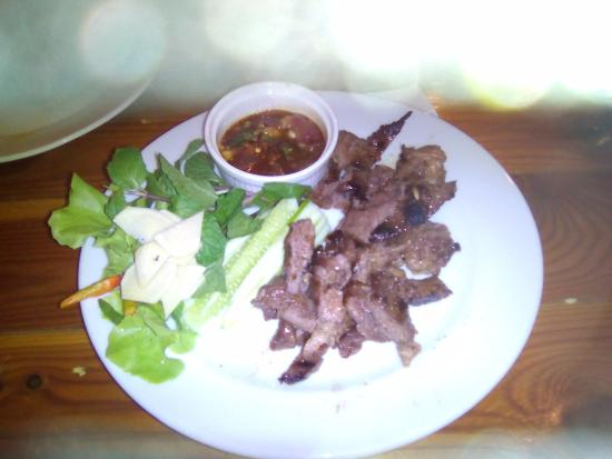 Kabin Buri, Tailândia: Grilled beaf