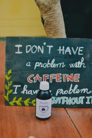 Funny slogan with cold brew coffee ^^ - Picture of Rosie's