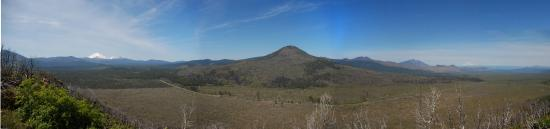 Old Station, CA: Panorama from Hat Creek Rim Overlook