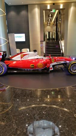 la Ferrari di formula 1 nel salone del Gallia. - Picture of Terrazza ...