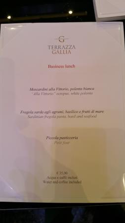 Il Menù Picture Of Terrazza Gallia Milan Tripadvisor