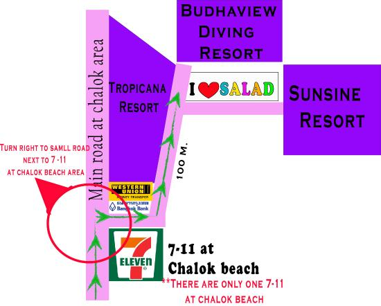I Love Salad: we are at chalok area turn right next to 7-11 then 100m after