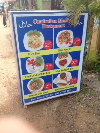Some Of The Prices Picture Of Cambodian Muslim Restaurant Siem Reap Tripadvisor