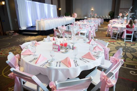 Bay City, MI: White Resin Hercules Chairs With Pink Accents