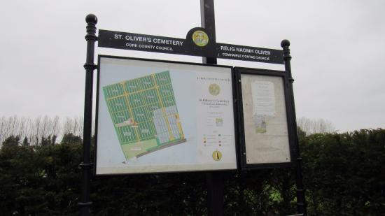 Rory Gallagher Gravesite - St. Olivers Cemetery: Cemitery Map