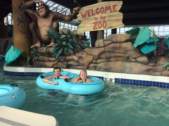 Water-Zoo Indoor Water Park: Swimming the lazy river
