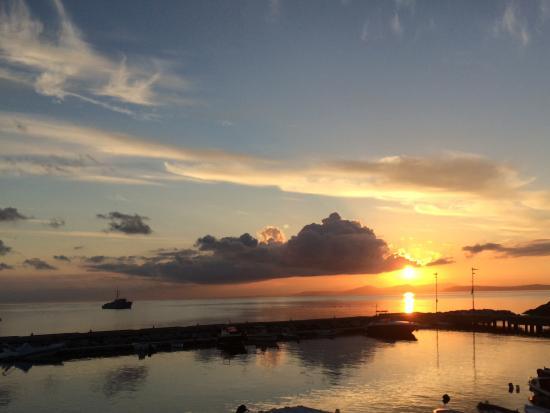 La Sirenella: Sonnenaufgang von der Terrasse
