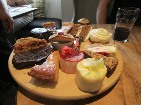 Nibley, UK: Choice of desserts