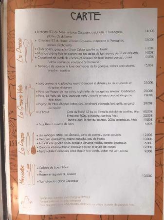Gujan-Mestras, France: Sa carte ...