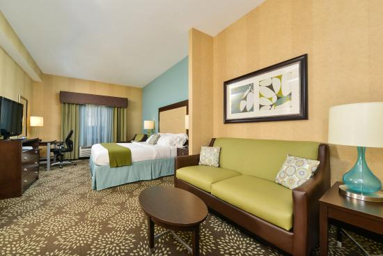Holiday Inn Express Hotel & Suites Dillsboro: Room to relax or work in our Kingbed Suite