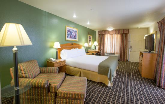 Holiday Inn Express San Jose Central City: One King Bed Pool View Non Smoking Guest Room