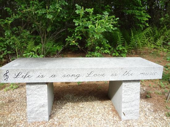 Rindge, NH: Bench on the nature walk