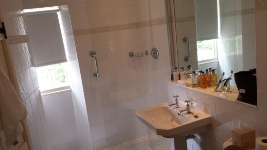 The Hare and Hounds Hotel: Separate shower cubicle in the Wingnut room