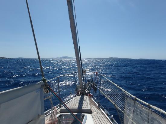 Ciudad de Naxos, Grecia: Capt. George's Boat