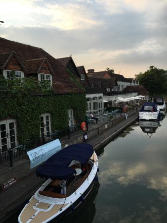 The Swan at Streatley: A perfect riverside pub, during a warm English summer.