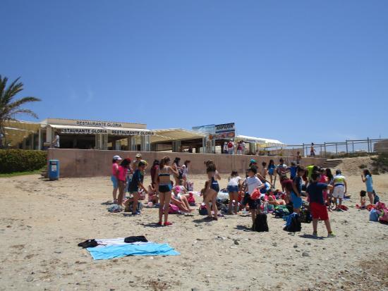 Restaurante Gloria: Gloria vanaf het strand