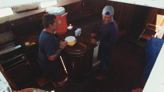 Mundo Maya Jungle Tours: Crew on the Yacht