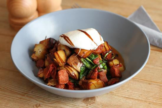 Robinsons Cafe: Chorizo & Parma Ham Hash