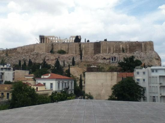 Parthenon And The Acropolis Site From My 2nd Of 3 Hotel Near Plaka Area
