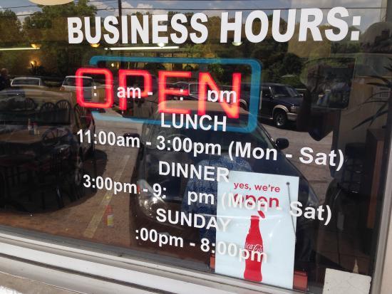 John's Fine Food: Open Hours
