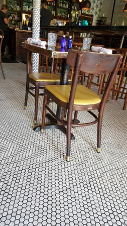 Hillside Farmacy Restaurants Black And White Mosaic Porcelain Floor