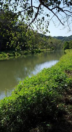 Eden Mill Nature Center: Deer Creek runs beside the trails