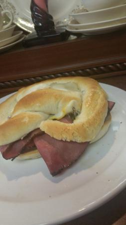 Rosestrudel: Reubens pretzel sandwhich. Or sausage kraut cheese pretzel sandwhiches.