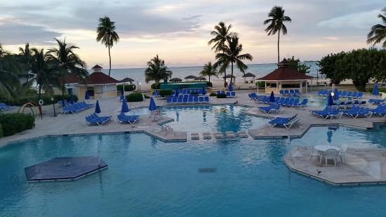 Breezes Resort & Spa Bahamas - All-Inclusive: View from main floor toward the beach.