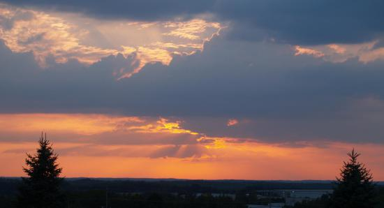 Saint Clair, MO: Clouded Sky view from balcony
