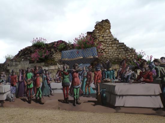 Forteresse royale de Chinon: Scène de personnages