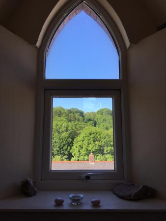 Cranleigh House: View from the Yoga studio