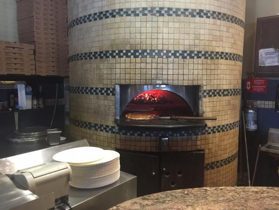 Britt's Coal Fire Pizza: Full look at the oven.
