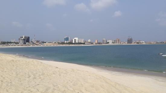 Eko Hotels & Suites: View across from Eko Atlantic to Eko Hotel