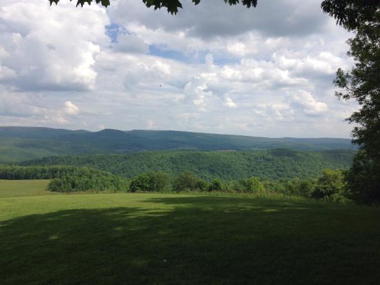 Chalk Hill, Pensilvania: View near the home