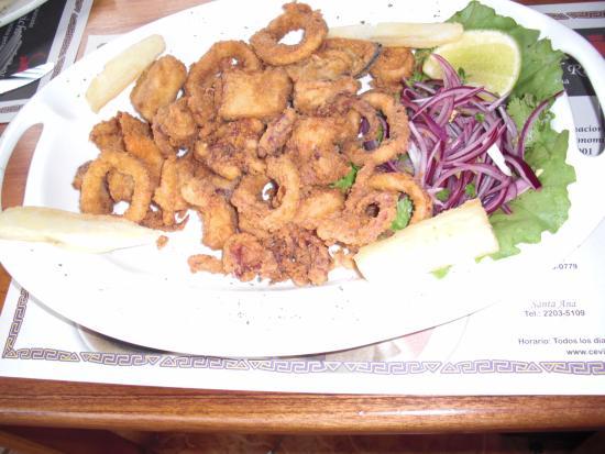 Ceviche del Rey: Uno de los interesantes platos de mariscos