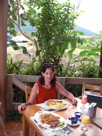 Ceviche del Rey: Al fondo el volcán