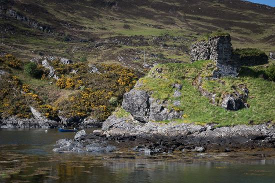 Rona B&B: The nearby Strome Castle ruins