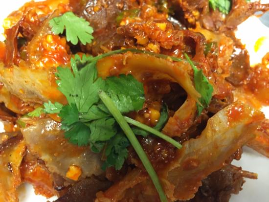 Beef Tendons in Spicy Garlic Sauce - Picture of Spicy Hunan Chinese ...